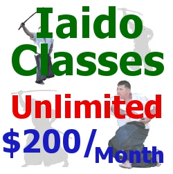 Iaido – Unlimited Japanese Sword Classes $200 for One Month